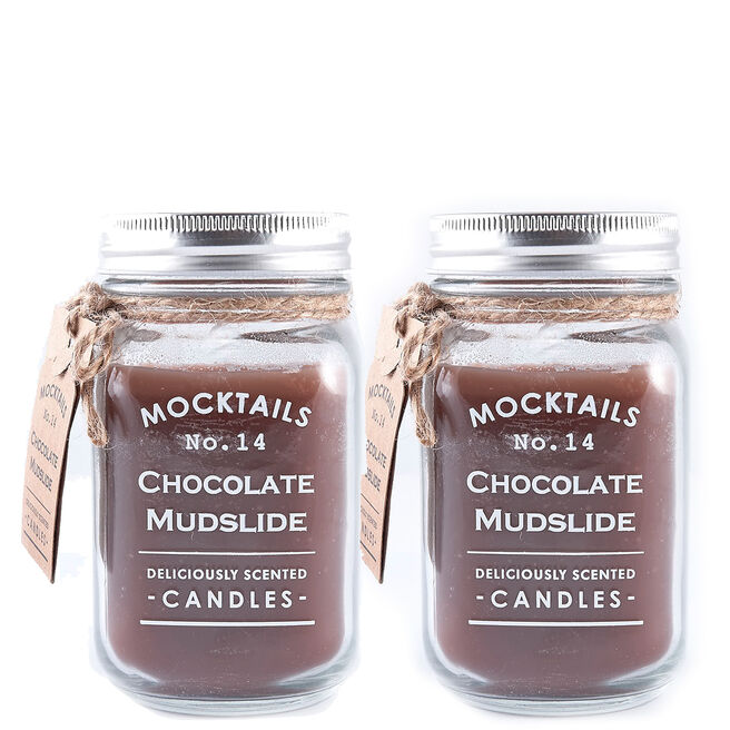 Mocktails Scented Candle - Chocolate Mudslide (Set of 2)