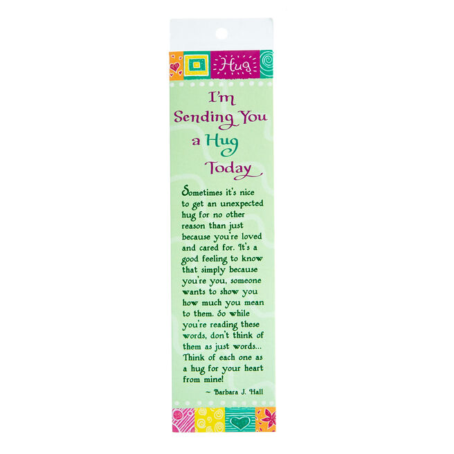 Blue Mountain Arts Bookmark - Sending You A Hug Today