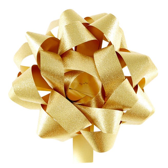 Giant Gold Gift Bow