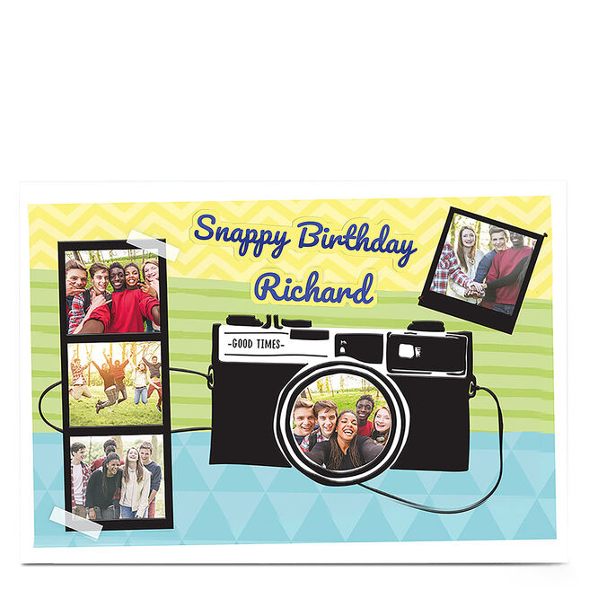 Multi Photo Birthday Card - Snappy Birthday