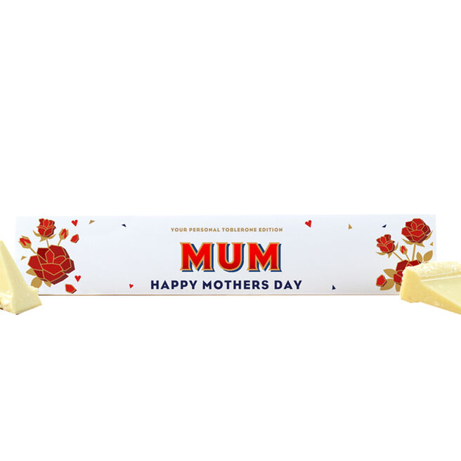 Personalised Mother's Day White Chocolate Toblerone 360g