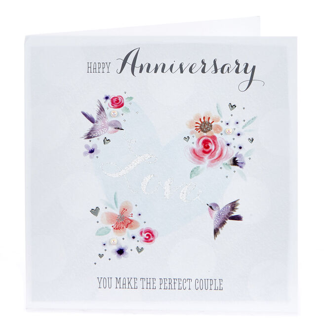 Boutique Collection Anniversary Card - The Perfect Couple