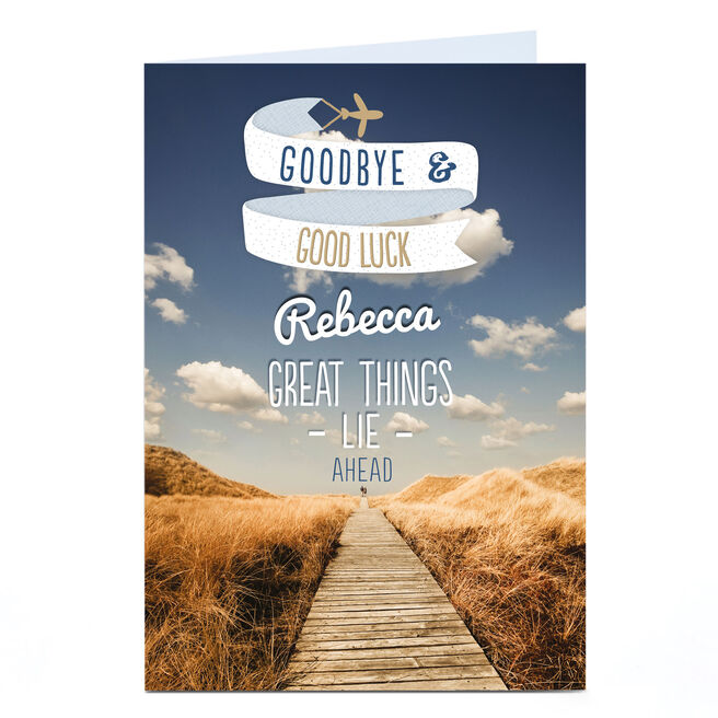 Personalised Card - Goodbye & Good Luck