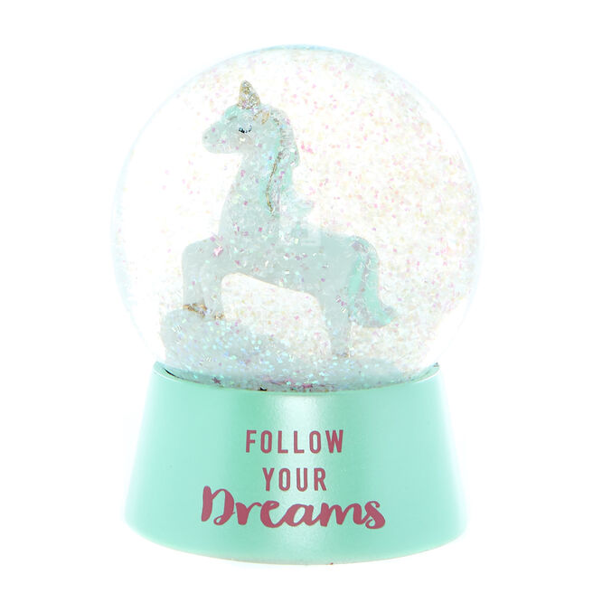 Happy & Bright Unicorn Glitter Globe