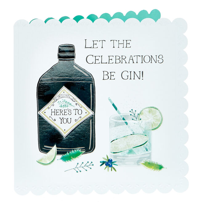 Any Occasion Card - Let The Celebrations Be Gin