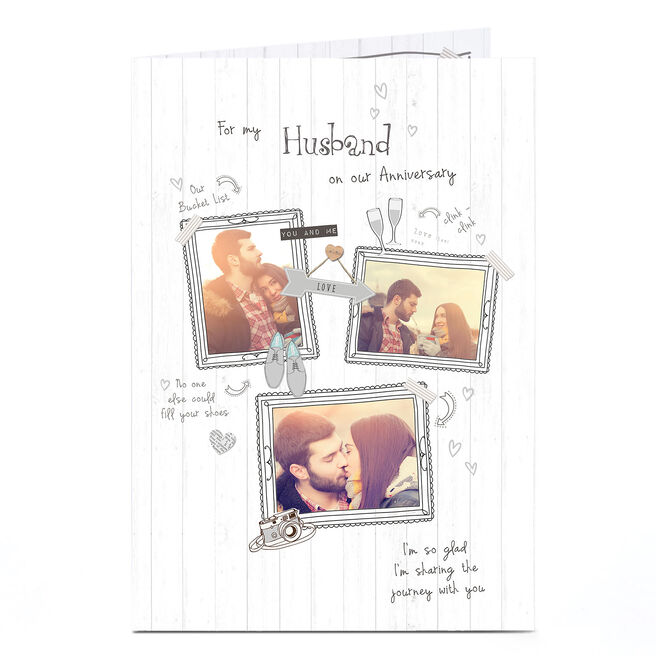 Photo Anniversary Card - Frames & Drawings