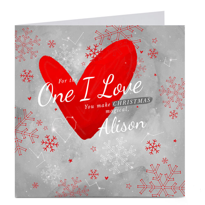 Personalised Christmas Card - For The One I Love