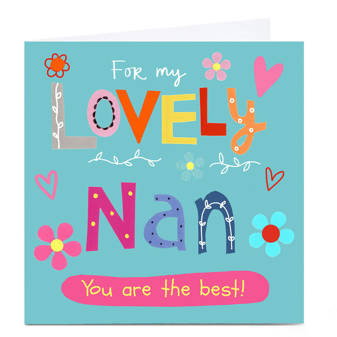 Personalised Lindsay Loves To Draw Card - Lovely Nan