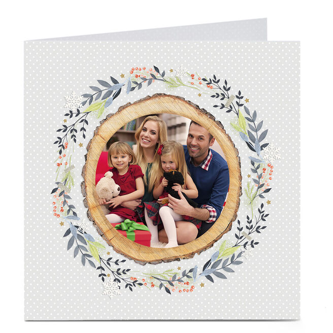 Photo Card - Leaves And Log Border