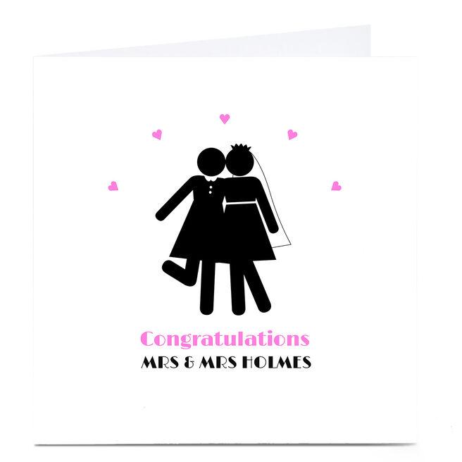 Personalised Wedding Card - Congratulations Mrs & Mrs