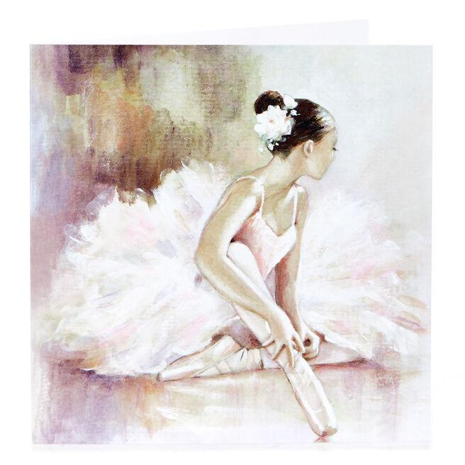 Blank Card - Ballerina Painting