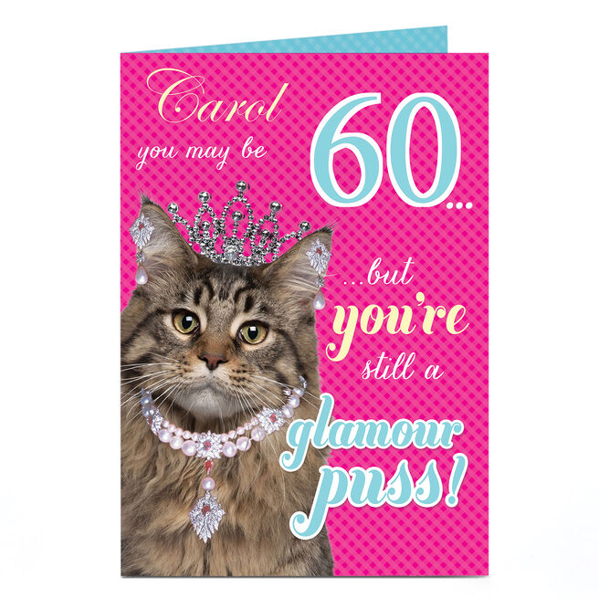 Personalised Birthday Card - Glamour Puss, Any Age