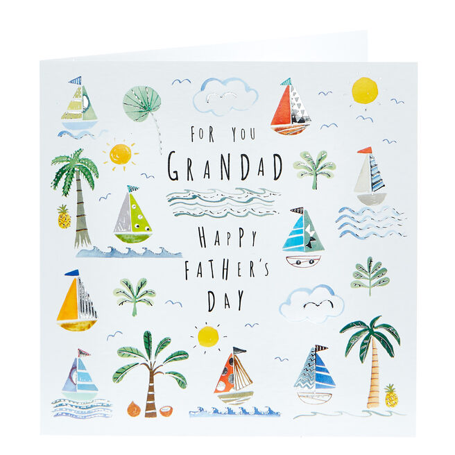 Father's Day Card - Grandad, Yachts
