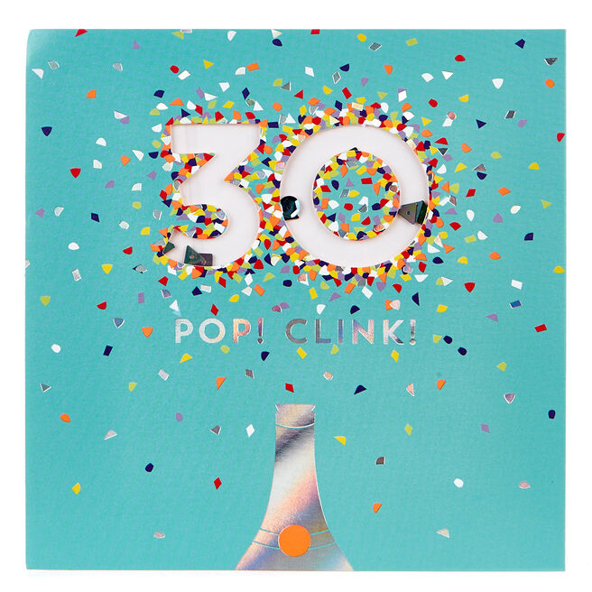 VIP Collection 30th Birthday Card - Neon Confetti