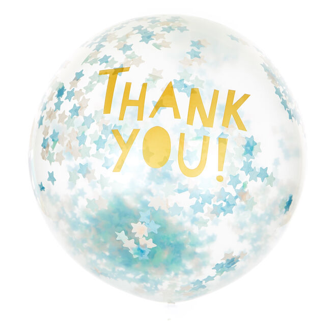 24-Inch Thank You Latex Star Confetti Balloon