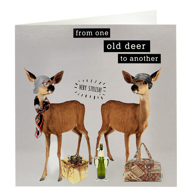 Birthday Card - From One Old Deer...