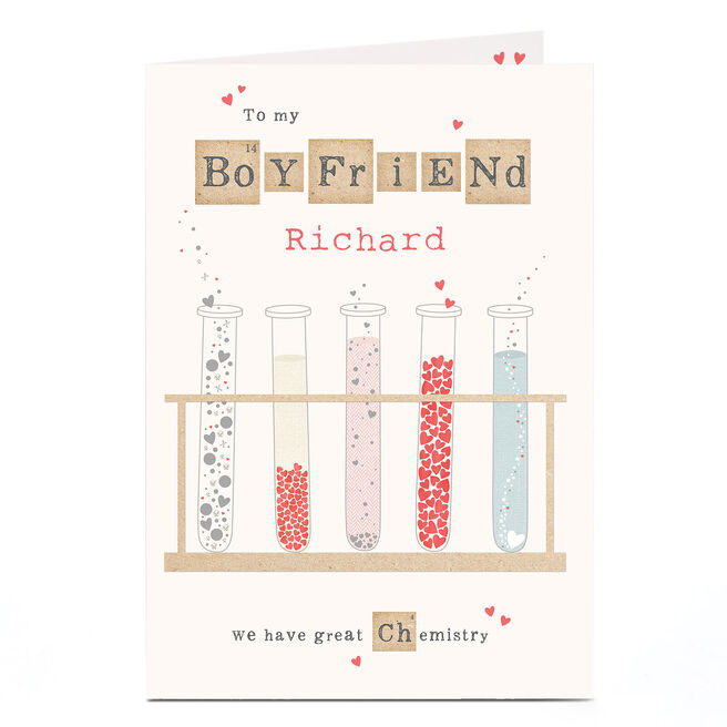 Personalised Card - Boyfriend Chemistry