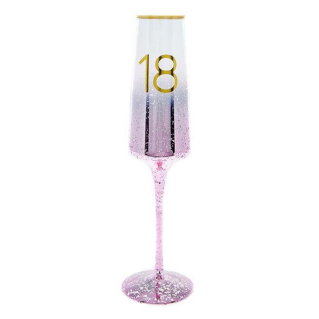 18th Birthday Champagne Flute - Happy Birthday To You