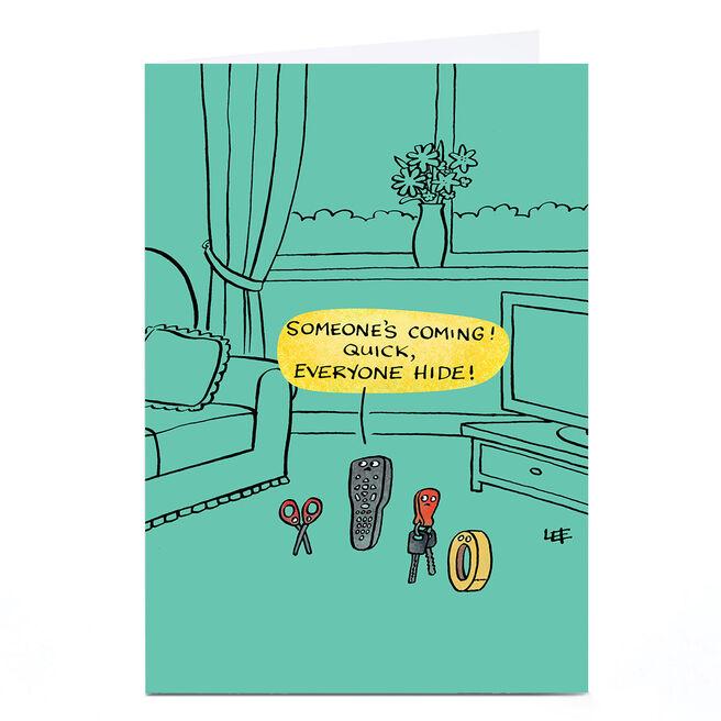 Personalised Lee Fearnley Card - Everyone Hide!