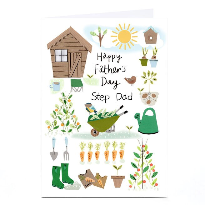 Personalised Lindsay Loves To Draw Father's Day Card - Gardening