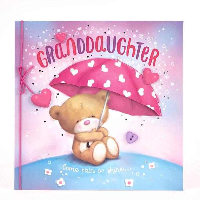 Boutique Collection Birthday Card - Granddaughter Bear