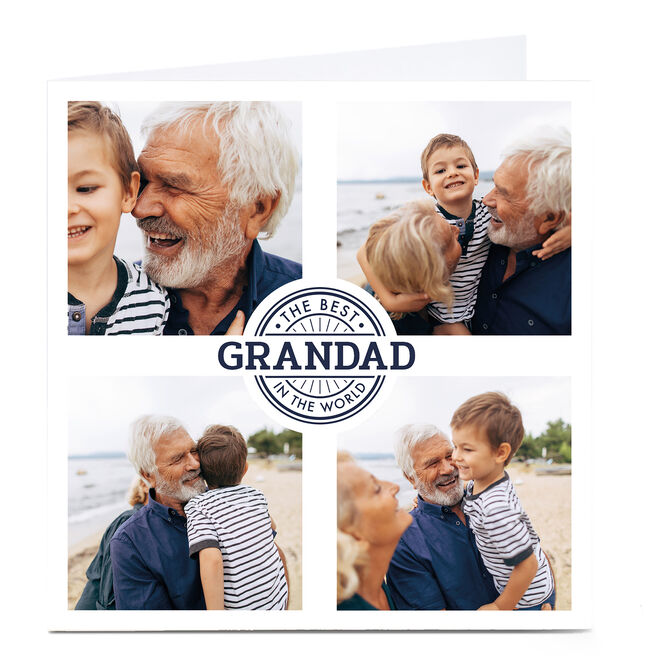 Personalised Father's Day Photo Card - The Best In The World