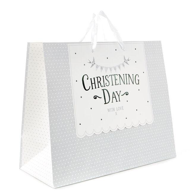 Medium Hearts Christening Day Gift Bag