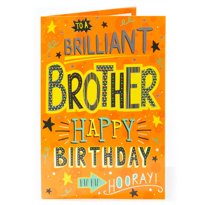 Giant Birthday Card - Brilliant Brother