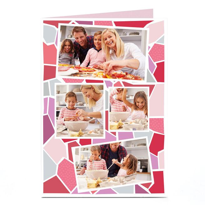 Photo Card - Pink Large Mosaic