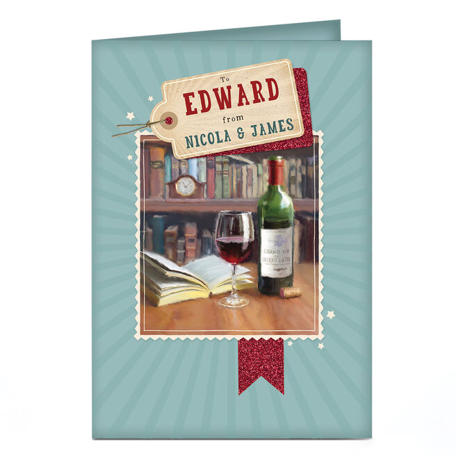 Personalised Card - Bottle & Book