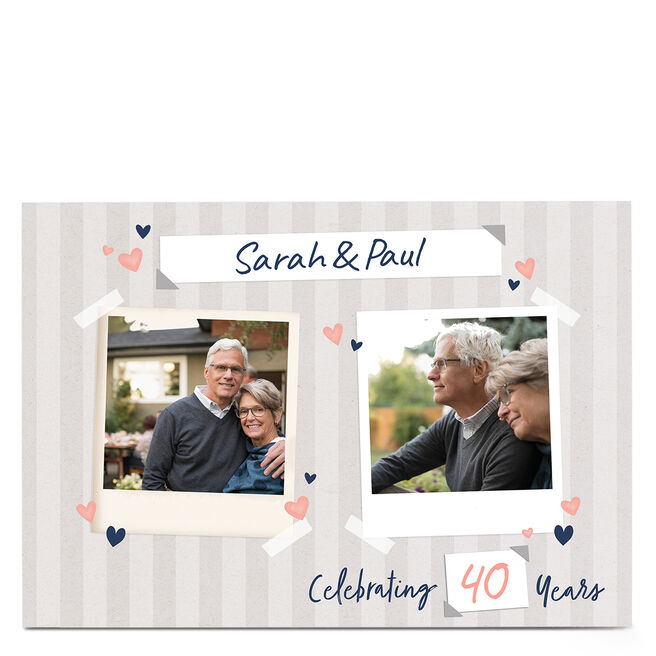 Personalised Anniversary Card - Years Together