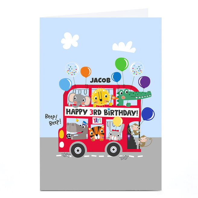Personalised Rachel Griffin Birthday Card - Happy 3rd Birthday