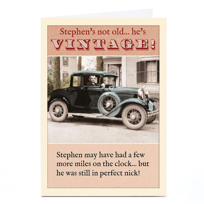 Personalised Madcap Manor Card - Not Old He's Vintage