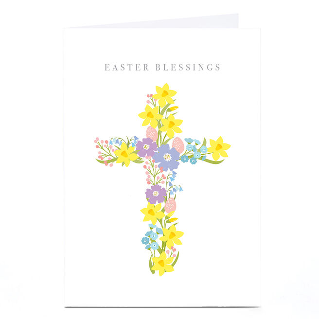 Personalised Klara Hawkins Easter Card - Blessings