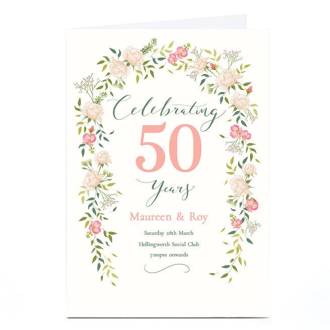 Personalised Anniversary Invitation - Celebrating Years