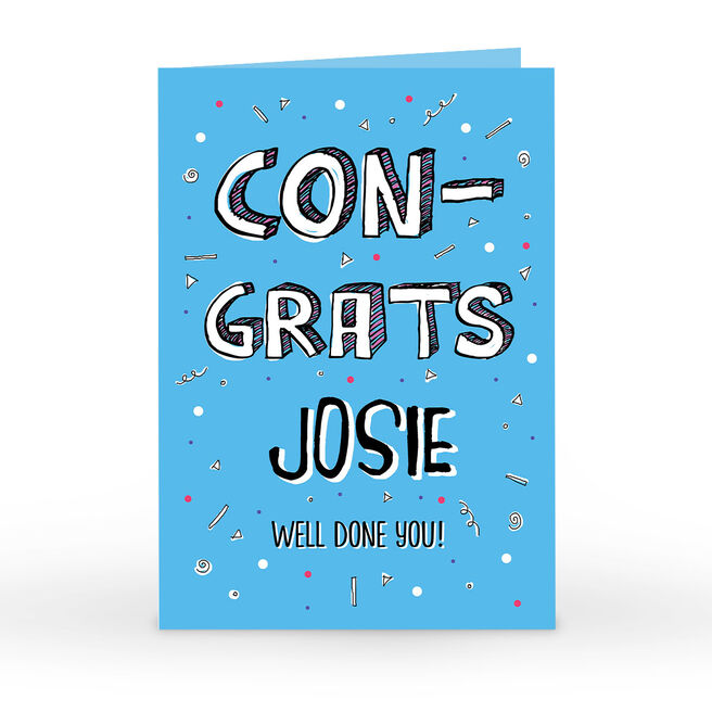 Personalised Congratulations Card - Well Done You!