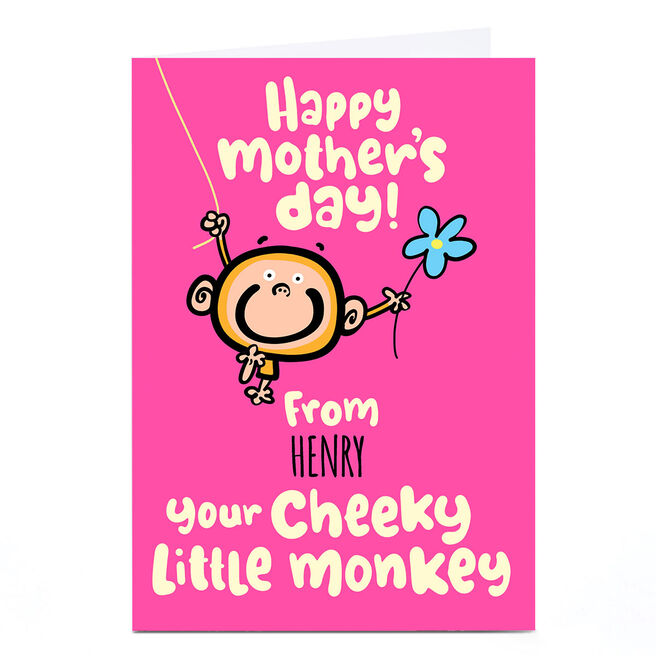 Personalised Fruitloops Mother's Day Card - Cheeky Little Monkey