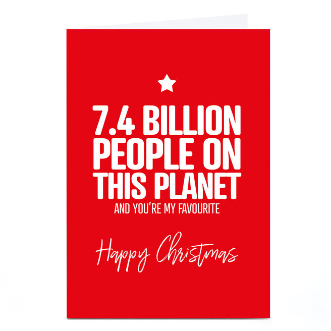 Personalised Punk Christmas Card - 7.4 Billion