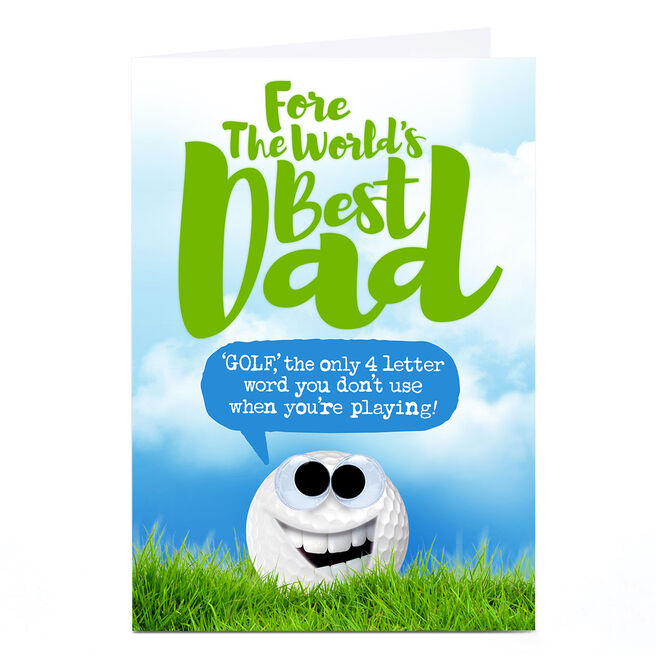 Personalised PG Quips Father's Day Card - Fore The World's Best Dad