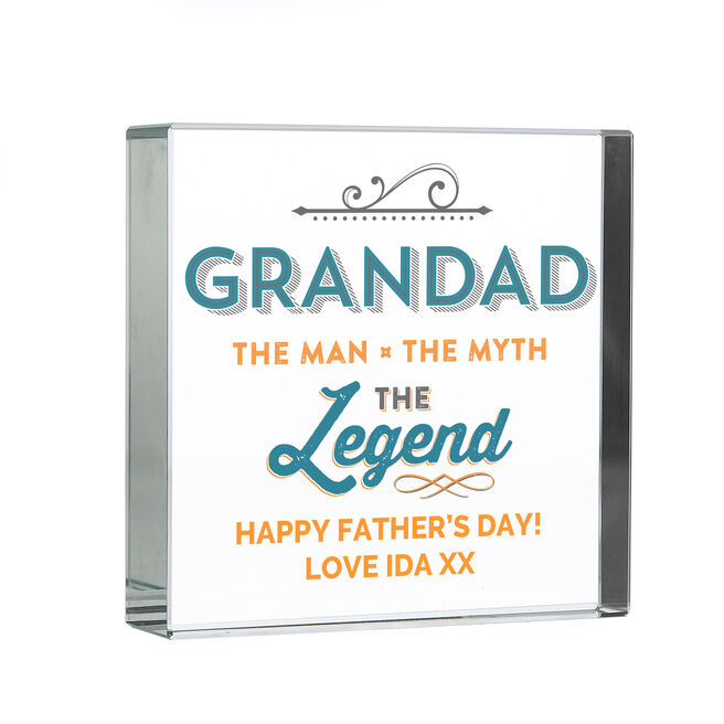 Personalised Glass Token - Grandad The Legend