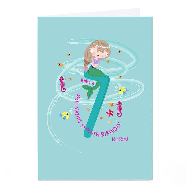 Personalised Rachel Griffin Birthday Card - 7, Mer-mazing Birthday