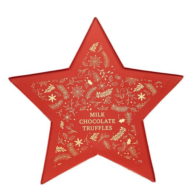 Festive Milk Chocolate Truffles - Red Star