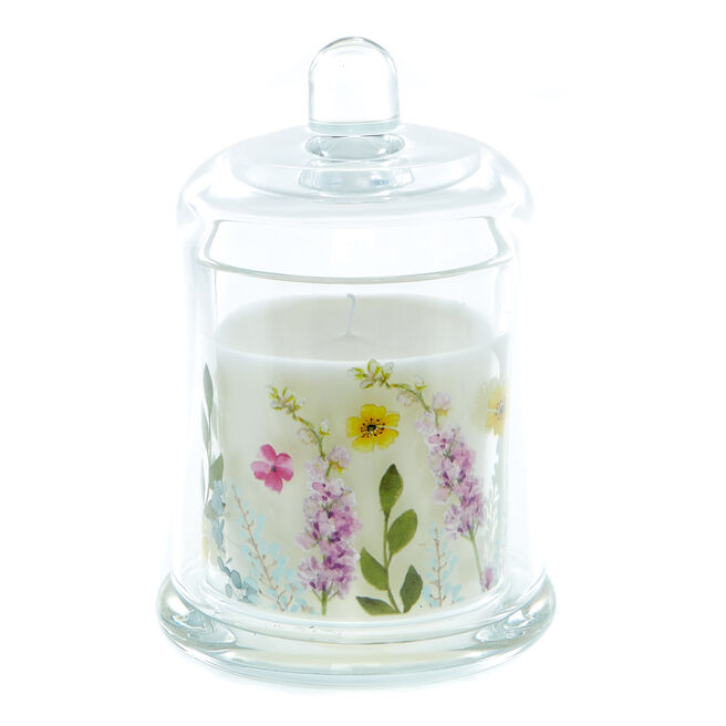 Mum Ivy & Rose Scented Candle In A Bell Jar