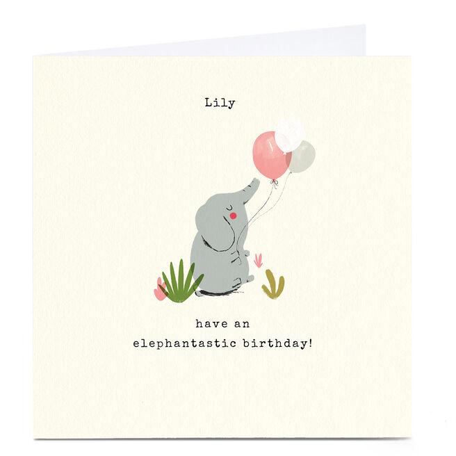 Personalised Andrew Thornton Birthday Card - Elephantastic
