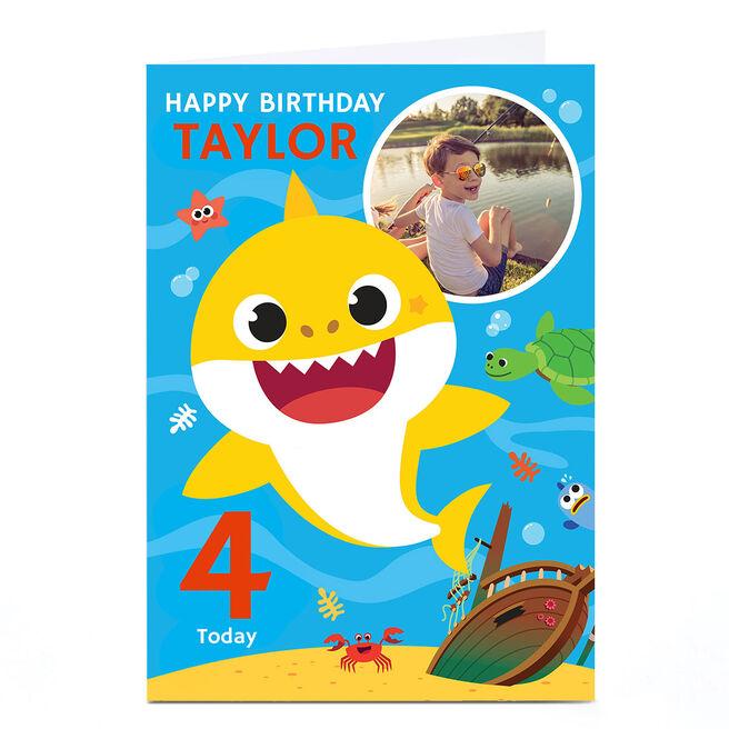 Photo Baby Shark Birthday Card - Any Name & Age
