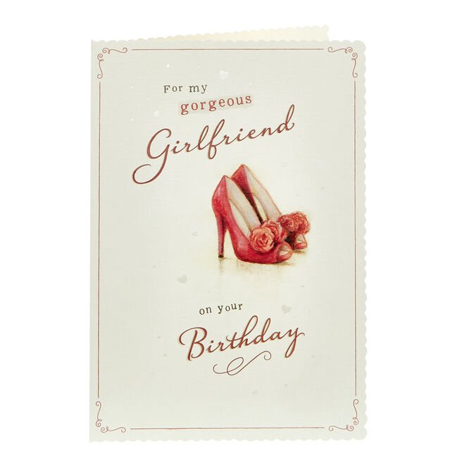 Birthday Card - Gorgeous Girlfriend, Shoes