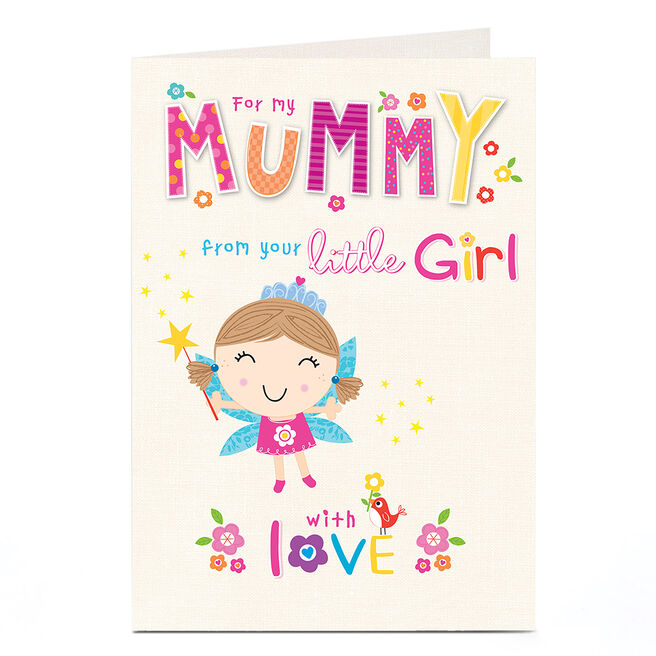 Personalised Card - Mummy From Little Girl