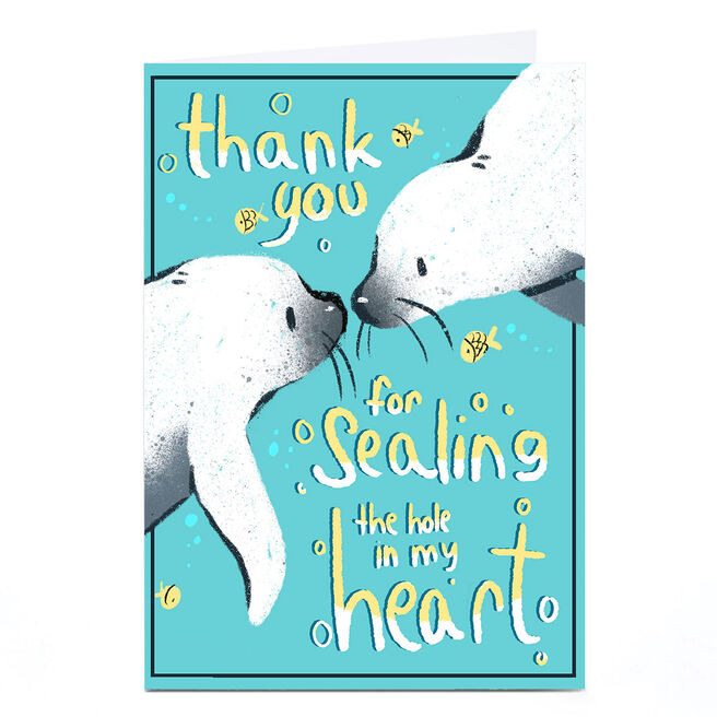 Personalised Raluca Farcas Thank You Card - Sealing