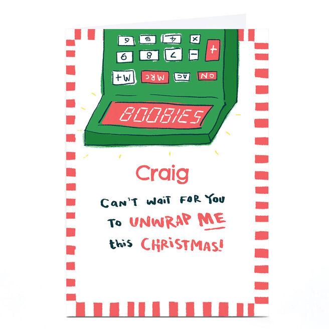 Personalised Christmas Card - Unwrap Me