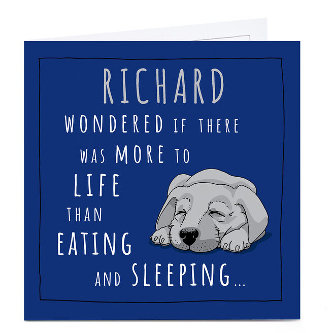 Personalised Totally Pawsome Card - Eating & Sleeping
